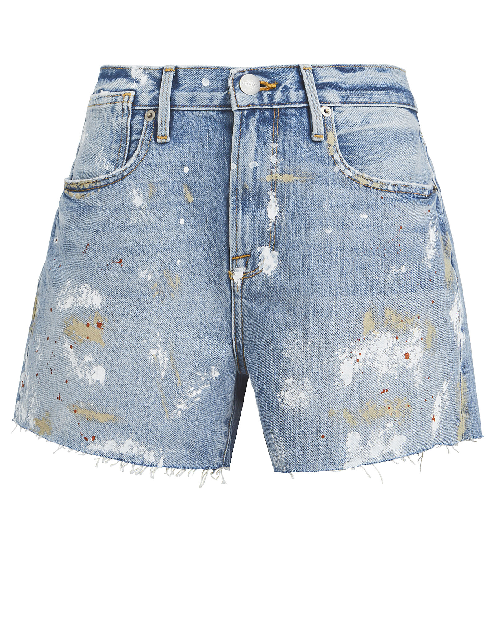 Le Stevie Raw Edge Denim Shorts, DISTRESSED DENIM, hi-res
