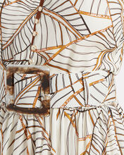 Selima Printed Silk Dress, IVORY FLORAL, hi-res