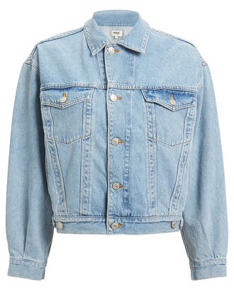 Charli Oversized Denim Jacket, LIGHT INDIGO DENIM, hi-res