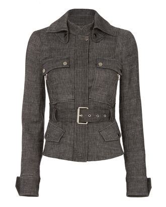 Triumph Belted Jacket, BLACK, hi-res