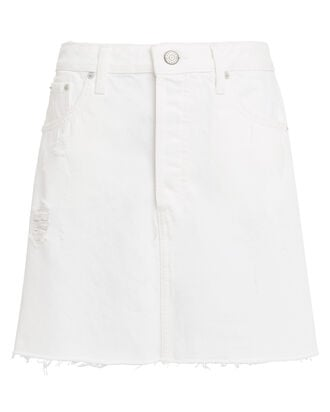 Corey Denim Skirt, WHITE, hi-res