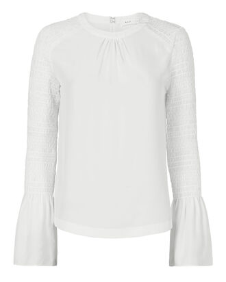 Sidra Blouse, WHITE, hi-res