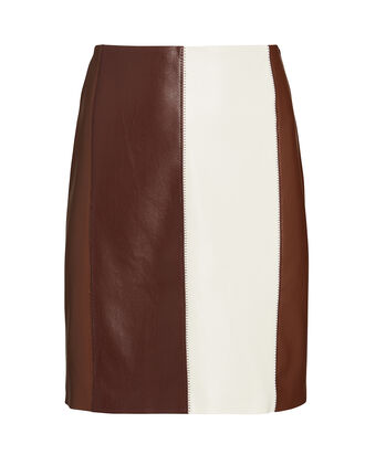 Luyu Vegan Leather Mini Skirt, MULTI, hi-res
