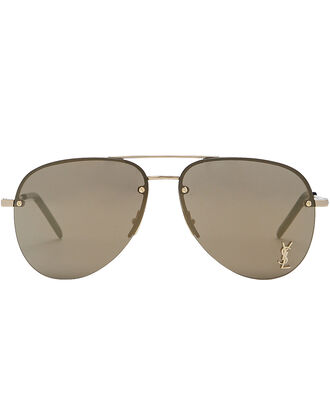 Monogram Aviator Sunglasses, GOLD, hi-res