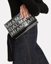 Logo Mirror Crossbody Bag, BLACK LEATHER, hi-res