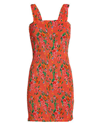 Jasmine Smocked Floral Dress, MULTI, hi-res
