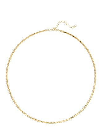 Bar Link Chain Necklace, GOLD, hi-res