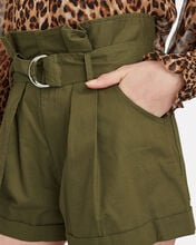 Dixon Twill Paperbag Shorts, OLIVE/ARMY, hi-res