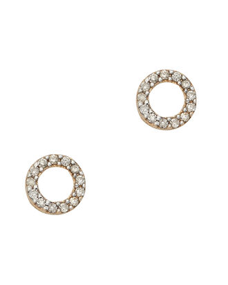 Mini Diamond Circle Studs, METALLIC, hi-res