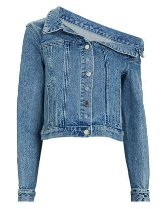 Rebecca Off-the-Shoulder Denim Jacket, MEDIUM WASH DENIM, hi-res