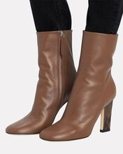 Carly Leather Ankle Boots, BROWN, hi-res