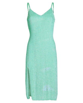 Denisa Sequin Slip Dress, GREEN, hi-res