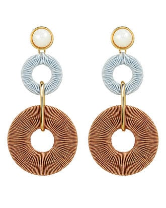 Corsica Coral Earrings, GOLD, hi-res