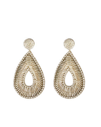 Deepa By Deepa Gurnani Abia Earrings, SILVER, hi-res
