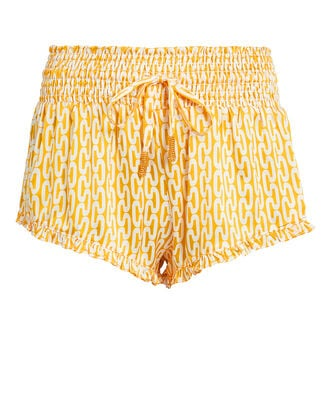 Paloma Gold Shorts, YELLOW/WHITE, hi-res
