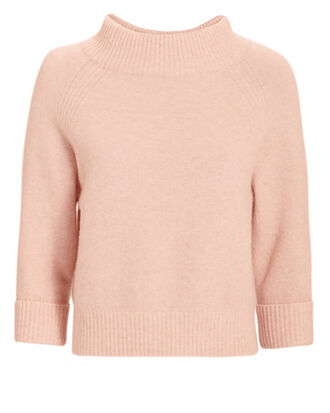 Lofty Ribbed Pullover, BLUSH, hi-res