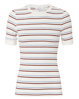 70s Fitted Tee, White/Stripes, hi-res