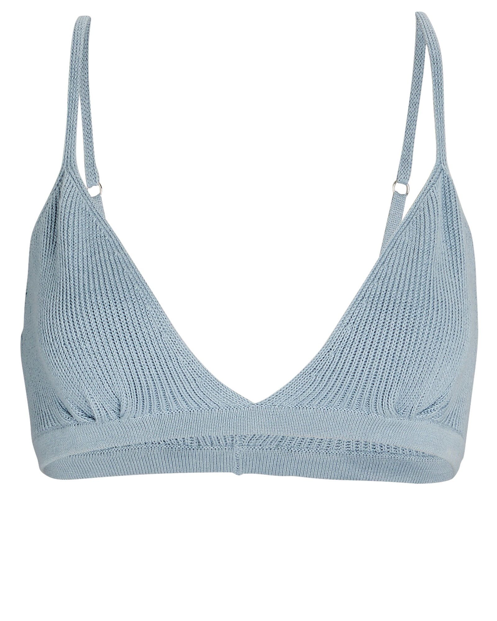 Danica Cotton-Silk Knit Bralette, BLUE-LT, hi-res