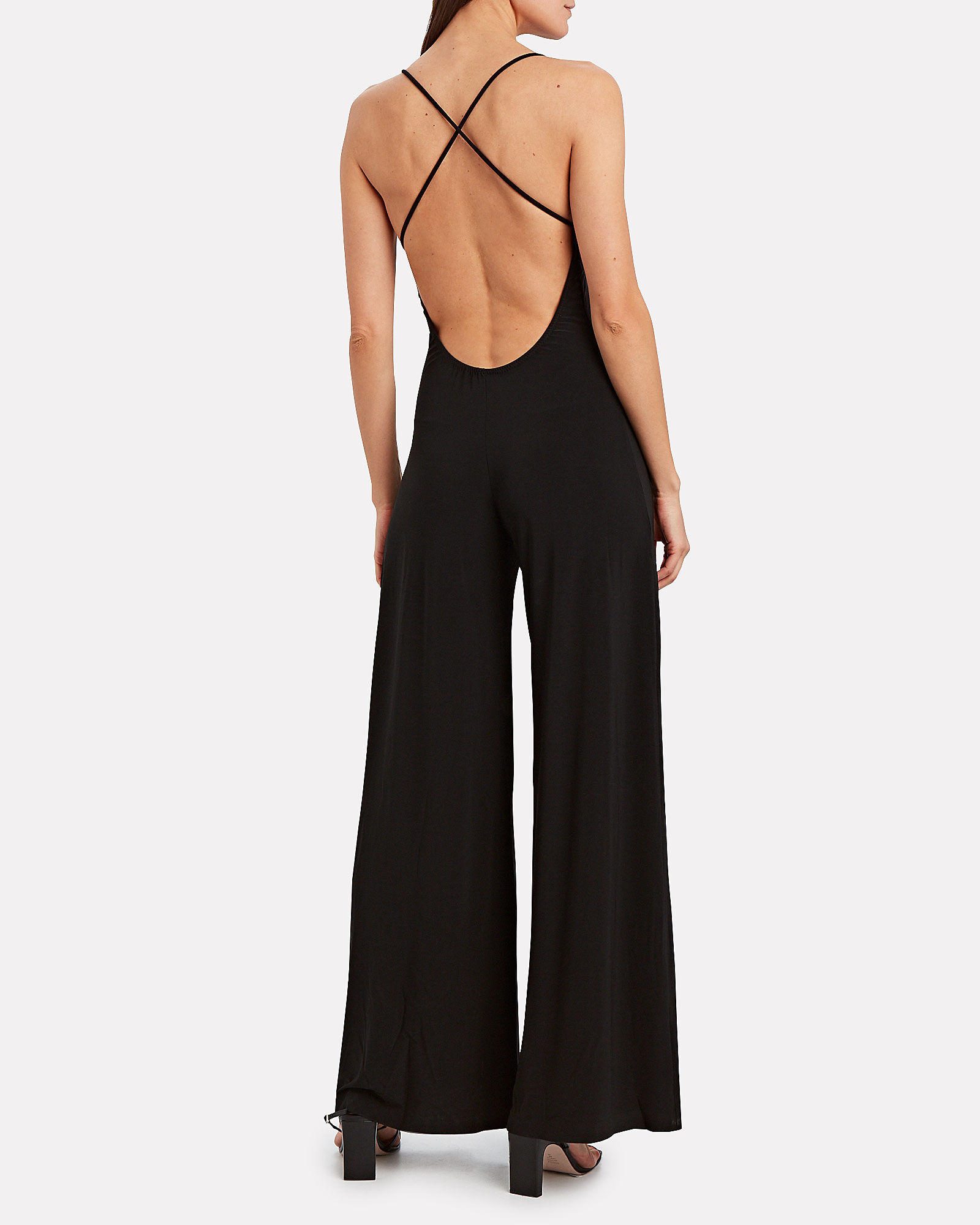 Sleeveless Jersey Jumpsuit, BLACK, hi-res