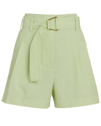 Belted Utility Shorts, LIGHT GREEN, hi-res