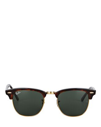 Clubmaster Round Sunglasses, BROWN, hi-res