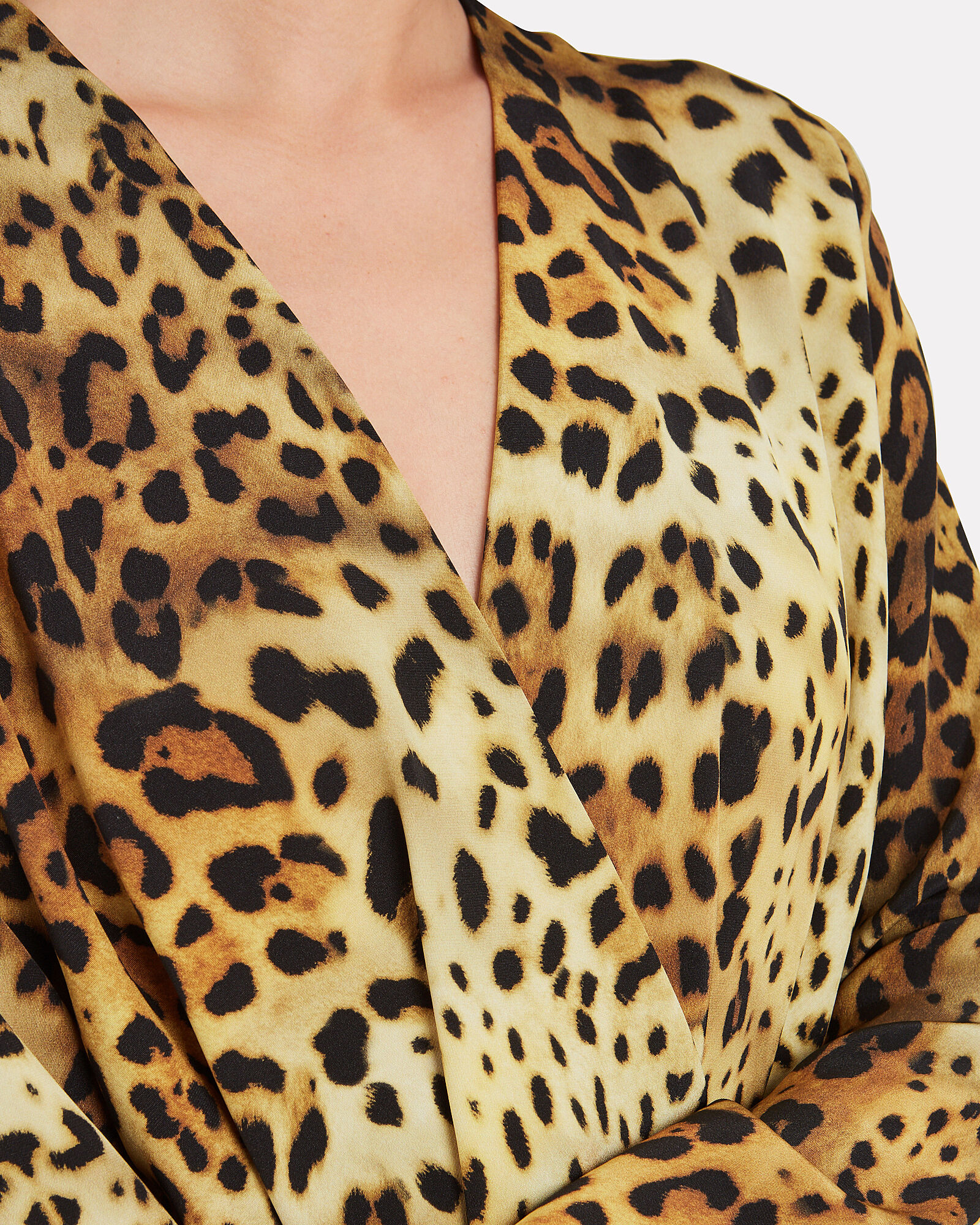 Leopard Print Silk Mini Dress, BROWN/BLACK, hi-res