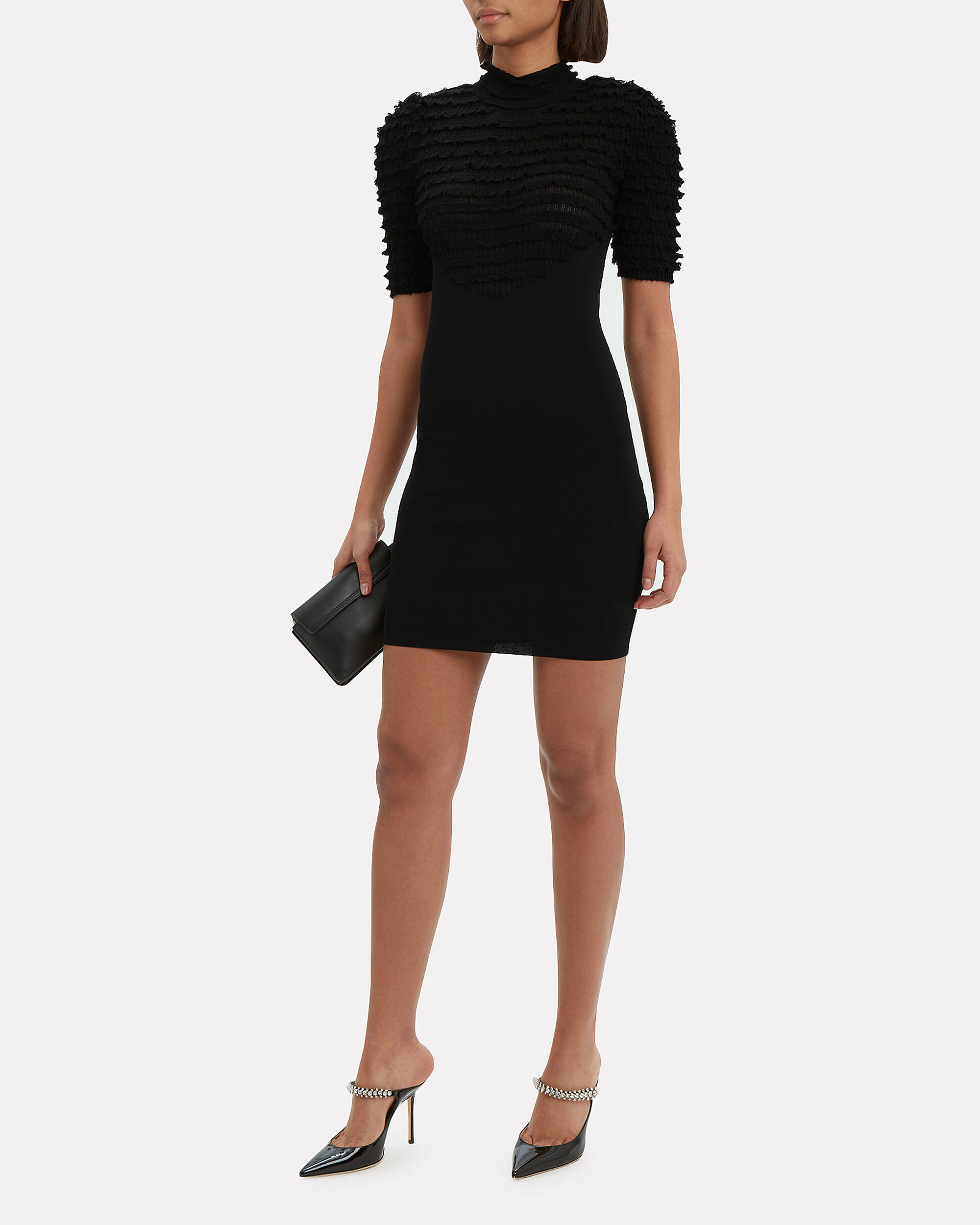 Dassah Mini Dress, BLACK, hi-res