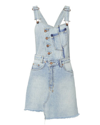 Hi Pini Sliced Dress, DENIM, hi-res