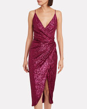 Draped Sequin Slip Dress, PINK-DRK, hi-res