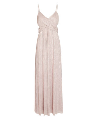 Tina Lurex Cut-Out Gown, PINK, hi-res