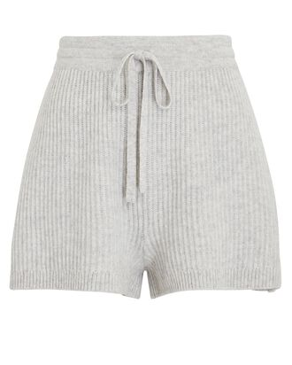Minnie Knit Wool-Cashmere Shorts, GREY-LT, hi-res