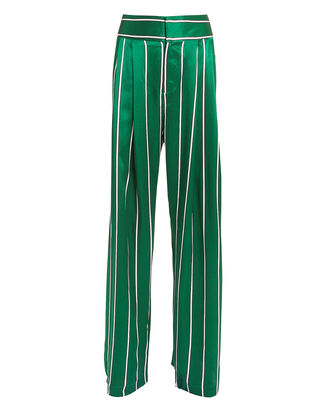 Love Unconditionally Jade Stripe Silk Pant, GREEN, hi-res