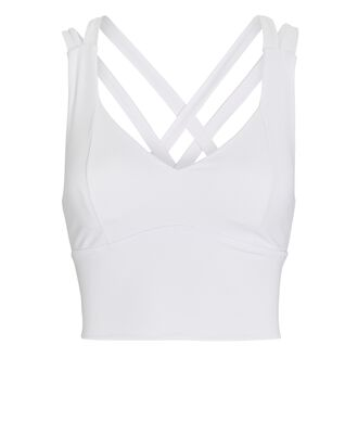 Range Longline Sports Bra, WHITE, hi-res