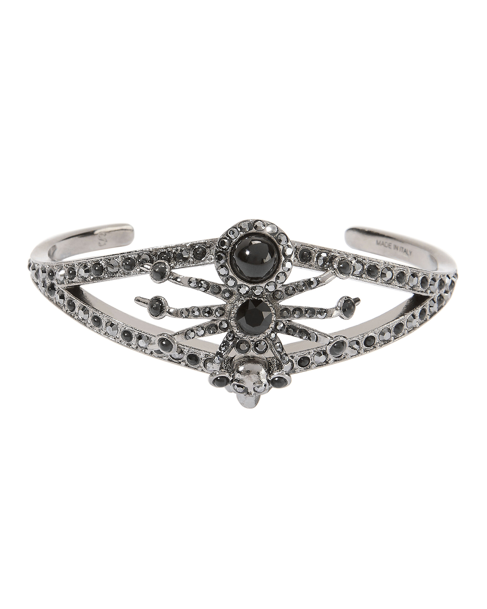 Embellished Spider Cuff, BLACK, hi-res