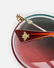 Ombré Rounded Sunglasses, GOLD, hi-res