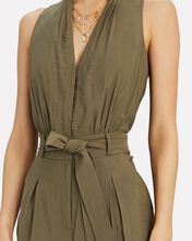 Selena Belted Sleeveless Jumpsuit, OLIVE/ARMY, hi-res