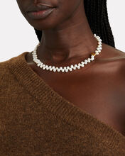 La Calliope Pearl Choker Necklace, WHITE, hi-res