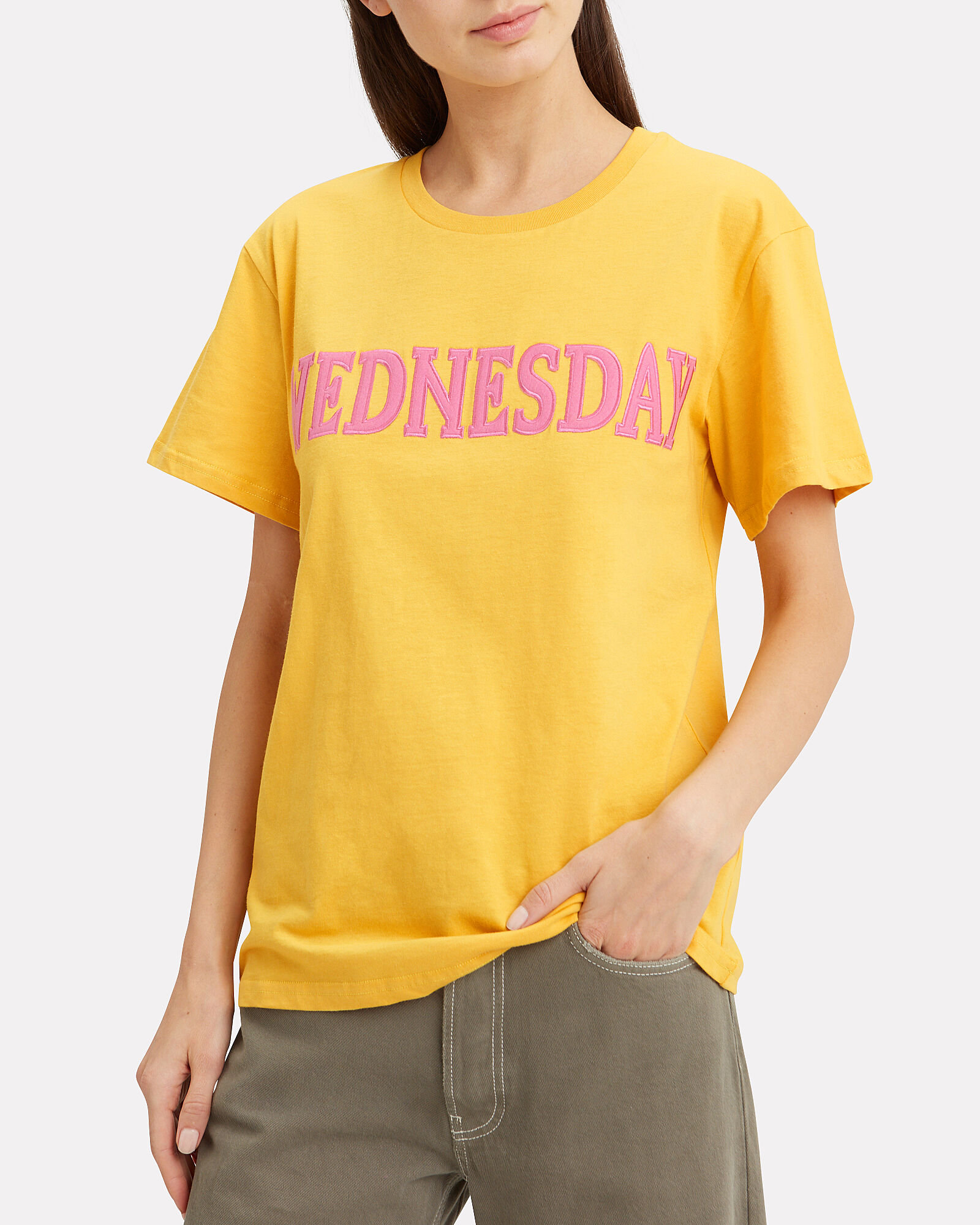 Wednesday Yellow T-Shirt, YELLOW, hi-res