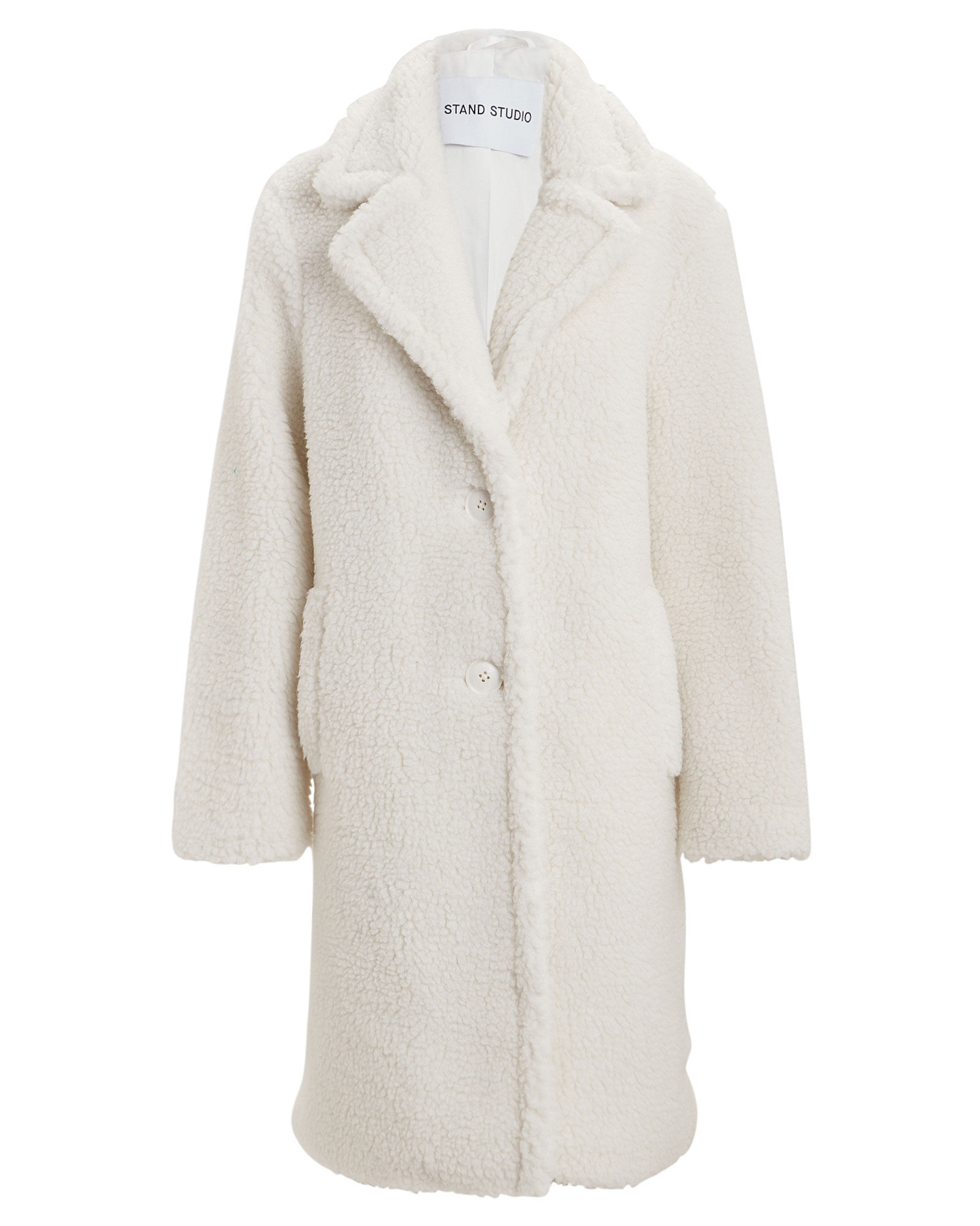 Lisen Faux Shearling Teddy Coat, IVORY, hi-res