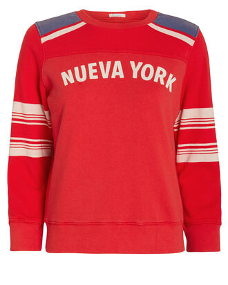 Nueva York Sweatshirt, RED/STRIPE, hi-res