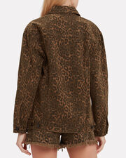 Daze Leopard Denim Jacket, MULTI, hi-res