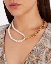 This And That Pearl Chain Necklace, GOLD, hi-res