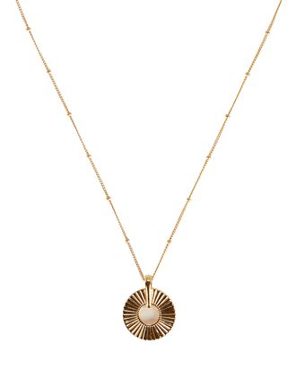Small Frill Pendant Necklace, GOLD, hi-res
