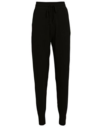 Wool-Cashmere Knit Joggers, BLACK, hi-res