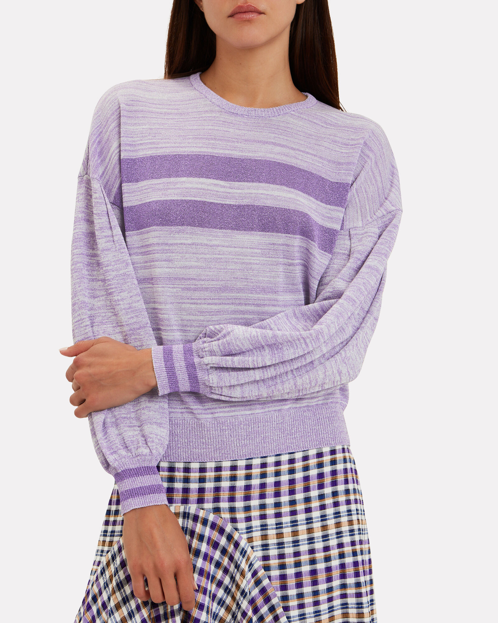 Cilvie Lurex Sweater, PURPLE, hi-res