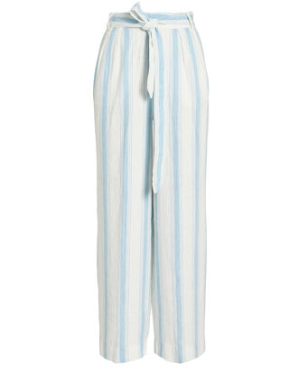 Striped Linen Pants, IVORY/STRIPES, hi-res