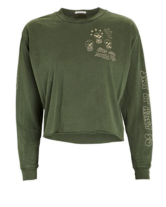 The Slouchie Long Sleeve T-Shirt, GREEN, hi-res