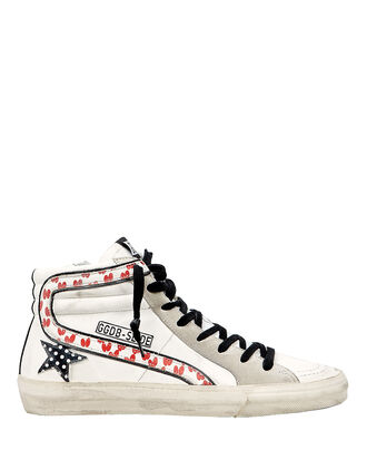 Slide Heart Polka Dot High-Top Sneakers, WHITE/GREY, hi-res