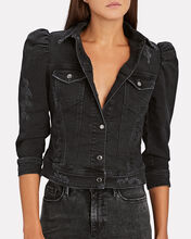 Ada Cropped Denim Jacket, BLACK, hi-res