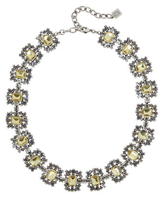 Serfina Crystal Necklace, YELLOW, hi-res